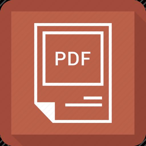 format, pdf icon