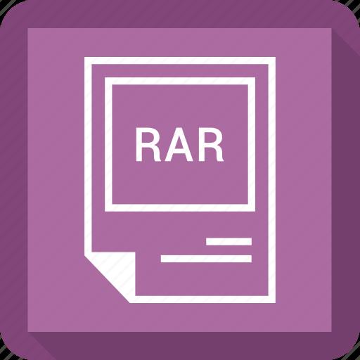 document, extension, file, format, rar icon