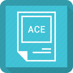 ace, document, extension, file, format icon