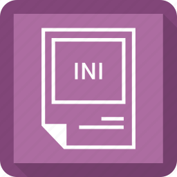 document, extension, file, format, ini icon