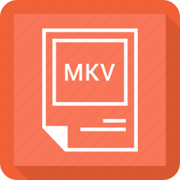 document, extension, file, format, mkv icon