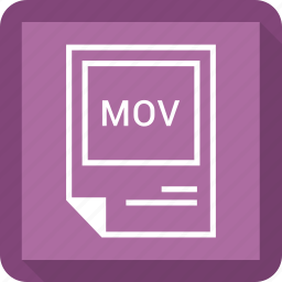 document, extension, file, format, mov icon