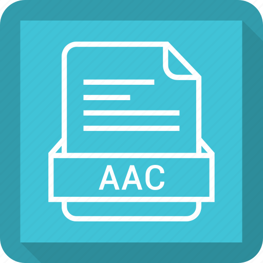 aac, document, extension, file, format icon
