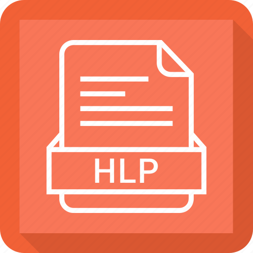 document, extension, file, format, hlp icon