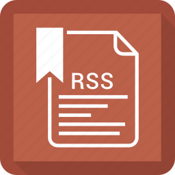 document, file, rss, tag icon
