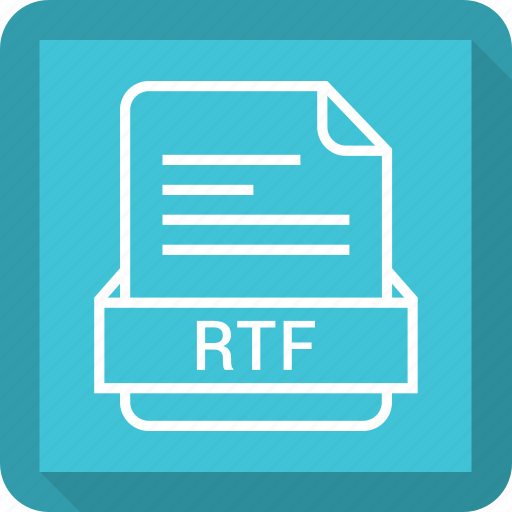 document, extension, file, format, rtf icon