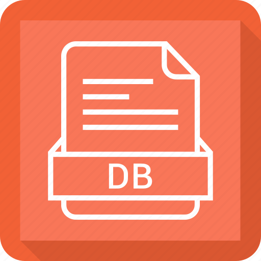 db, document, extension, file, format icon