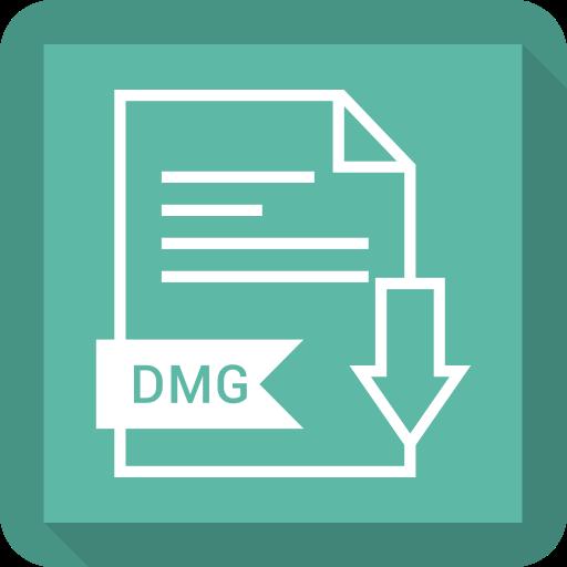dmg, document, file, format icon