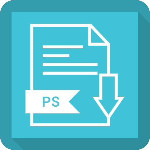 document, extension, file, ps, system icon