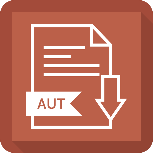 aut, document, extension, file, system icon