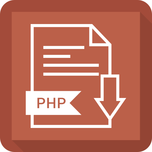 document, extension, file, php, system icon