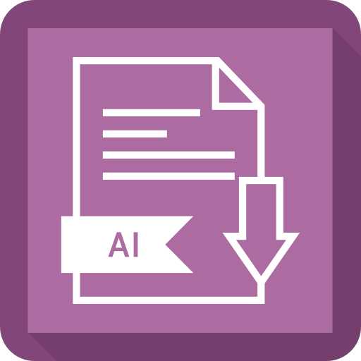 ai, document, extension, file, system icon