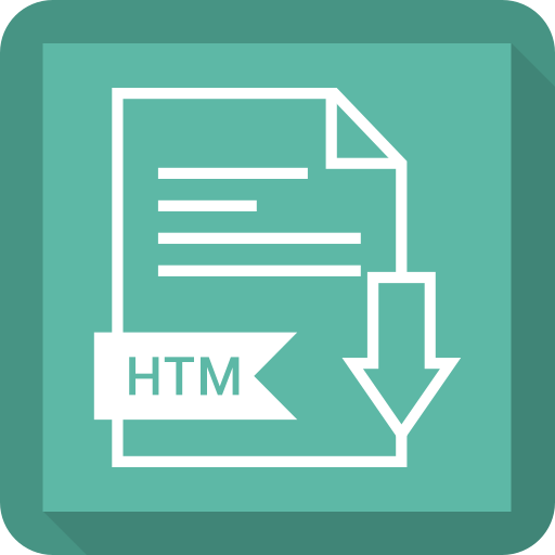 document, extension, file, htm, system icon