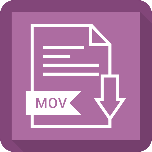 document, extension, file, mov, system icon