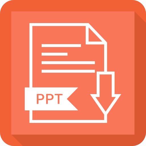 document, extension, file, ppt, system icon