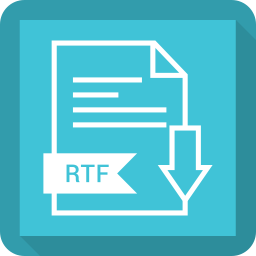 extention, file, rtf, type icon