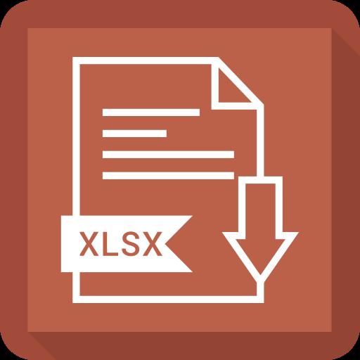 file, format, xlsx icon