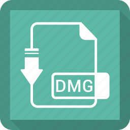 dmg, document, file, format icon