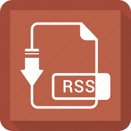 document, extension, file, format, rss icon