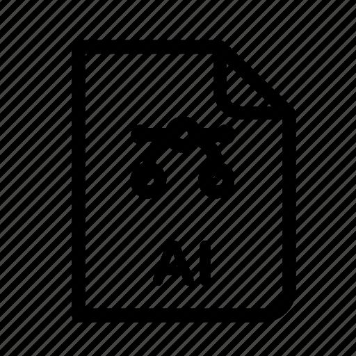 ai file, data, design, document, file, format, vector icon