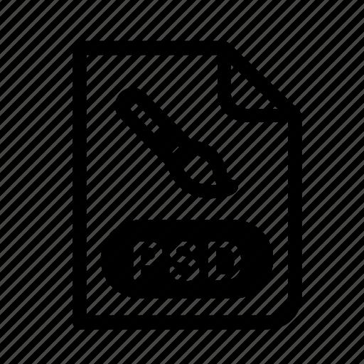 design, file format, photoshop, picture, program, psd, psd file icon