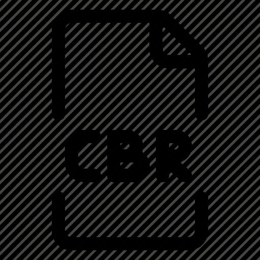 cbr, doc, file, format icon