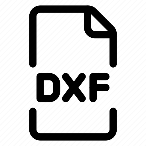 doc, dxf, file, format icon