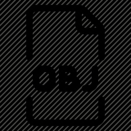 doc, file, format, obj icon