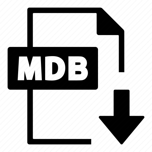 document, file, file format, format, interface, mdb icon