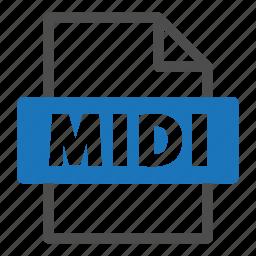 document, file, file format, format, interface, midi icon