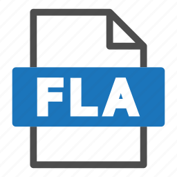document, file, file format, fla, format, interface icon