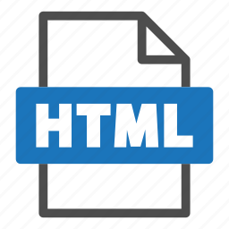 document, file, file format, format, html, interface icon