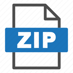 document, file, file format, format, interface, zip icon