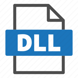 dll, document, file, file format, format, interface icon