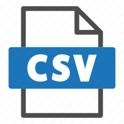 csv, document, file, file format, format, interface icon