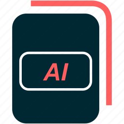 adobe, ai, extension, file, illustrator, vector icon