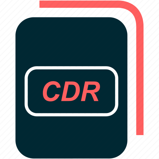 cdr, file, format, type icon