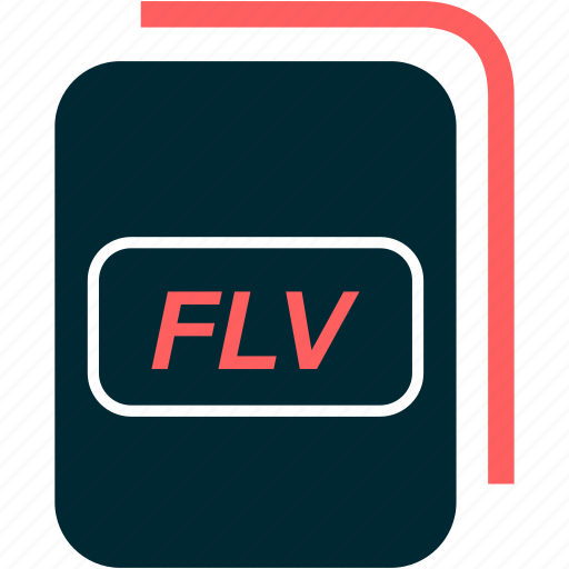 file, flash, flv, format, video icon