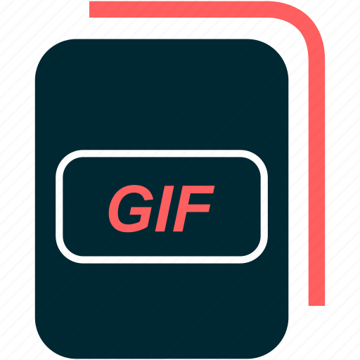 file, format, gif, type icon