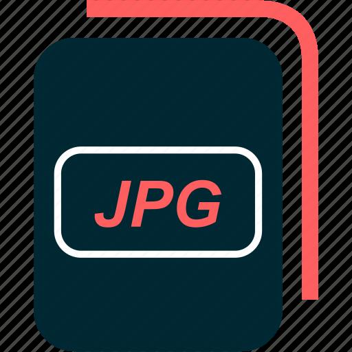 file, format, image, jpg, type icon