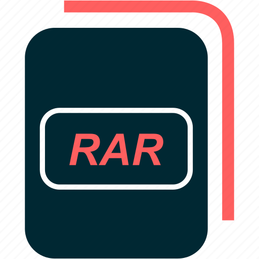 file, format, rar, type icon