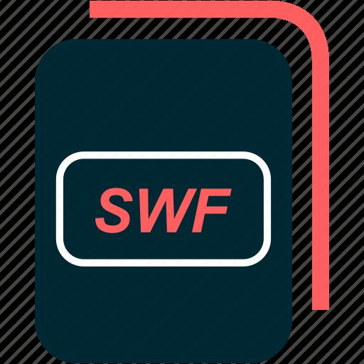file, flash, format, small, swf, web icon