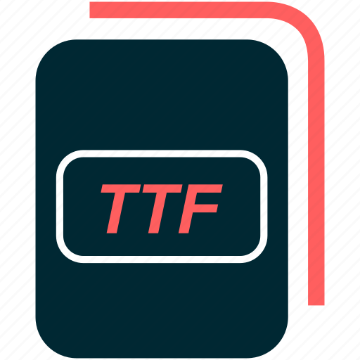 file, format, ttf, type icon