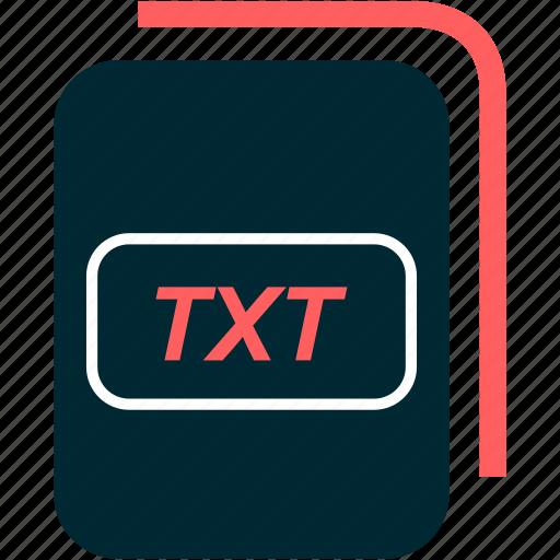 file, format, txt, type icon