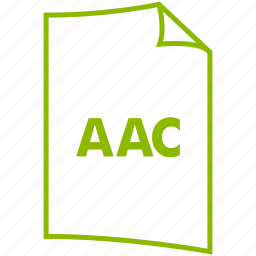 aac, audio format, extension, file format, music format icon