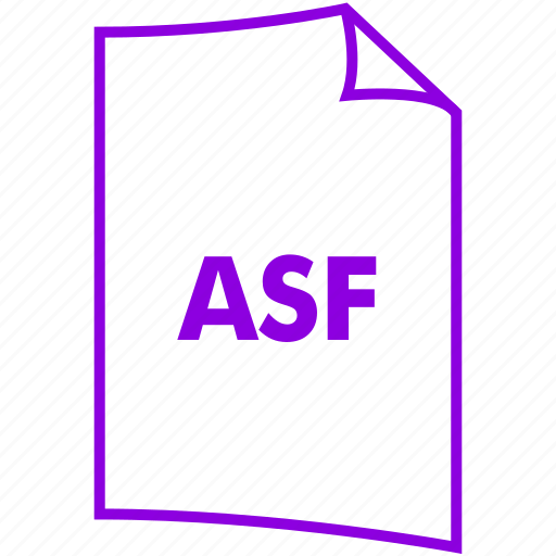 asf, extension, file format icon