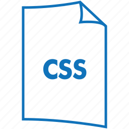 css, extension, file, file format, style sheet icon