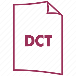 dct, extension, file format icon