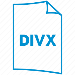 divx, extension, file format, video format icon