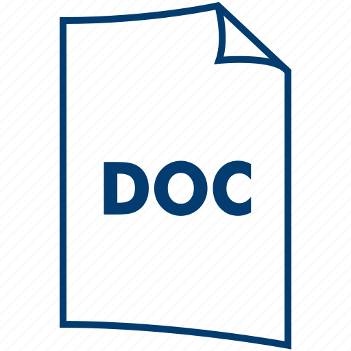 doc, document format, extension, file, file format, ms word, word icon
